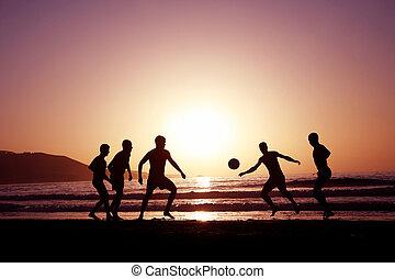 フットボール, 日没
