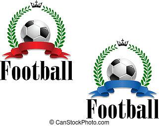 フットボール, 紋章, ∥あるいは∥, ラベル