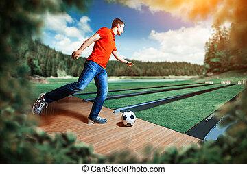 フットボール, 遊び, 人