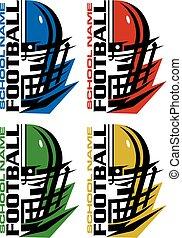 フットボール, facemask, ヘルメット