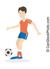 フットボール, player., 若い