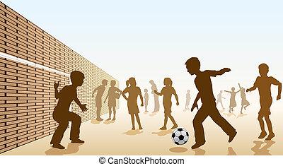 フットボール, schoolyard