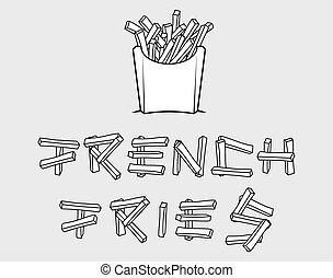 フライド・ポテト, フランス語