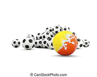 フラグフットボール, 隔離された, ブータン, 白