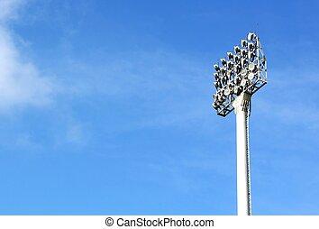 フラッドライト, フットボール, 競技場, 金属の棒