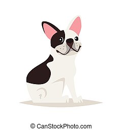 フランス語, 犬, ブルドッグ, かわいい