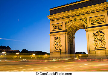 フランス, パリ, triomphe, アーチ, 弧, 勝利, de