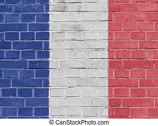 フランス, 政治, concept:, フランスの旗, 壁