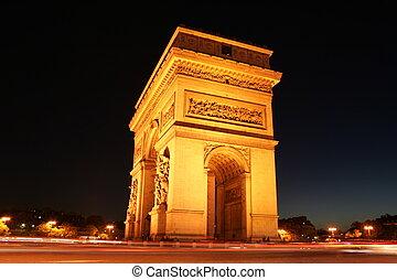 フランス, triumphe, de, 弧