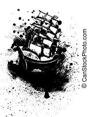 フリゲート艦, 船, スケッチ