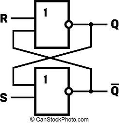 フリップフロップ, (latch), 回路