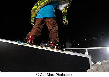 フリースタイル, ジャンプ, スノーボーダー