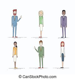 フルである, ビジネス 人々, 特徴, 長さ, セット, 漫画