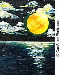 フルである, 海景, 月
