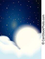 フルである, 雲, 背景, 月