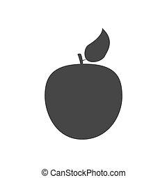 フルーツ, アップル, アイコン
