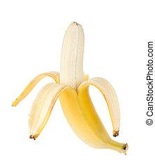 フルーツ, 開いた, バナナ