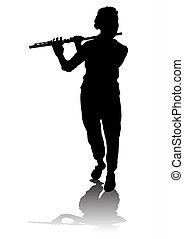 フルート奏者