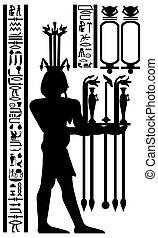 フレスコ画, 象形文字, エジプト人