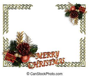 フレーム, クリスマス, ボーダー