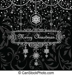フレーム, クリスマス, 型
