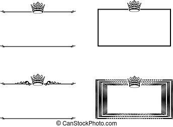 フレーム, セット, 王冠