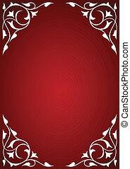 フレーム, パターン, 白い赤