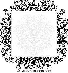 フレーム, ベクトル, 装飾, 背景