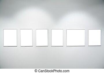 フレーム, 壁, 白