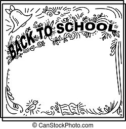 フレーム, -, 学校, いたずら書き, 背中, レタリング