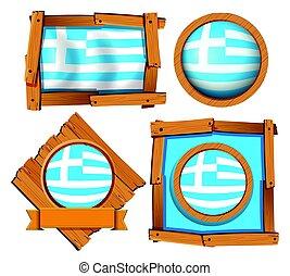 フレーム, 旗, 別, ギリシャ