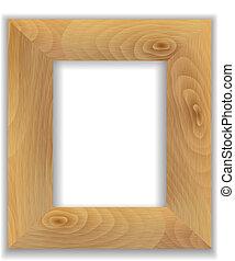 フレーム, 木製である