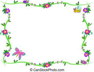 フレーム, 植物, 花, かわいい