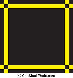 フレーム, 現代, 黒い背景, 黄色