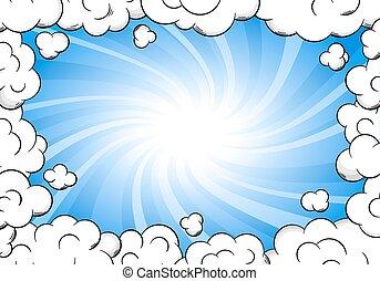 フレーム, 空の雲, 背景