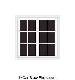 フレーム, 窓, 隔離された, 背景, 白