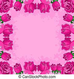 フレーム, 背景, 花
