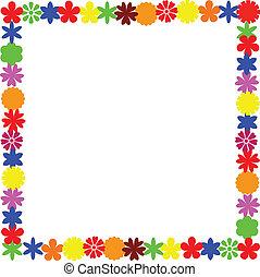 フレーム, 花, イメージ