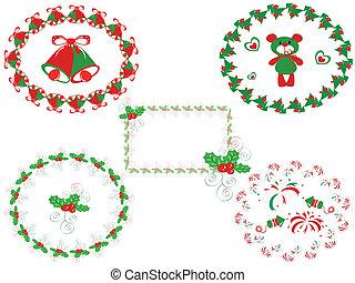 フレーム, 装飾, クリスマス