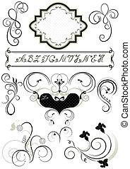 フレーム, 装飾, calligraphic