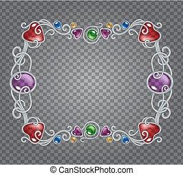 フレーム, 銀, 宝石用原石