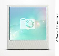 フレーム, polaroid, 写真