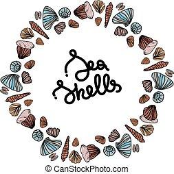 フレーム, shells., 海, ラウンド
