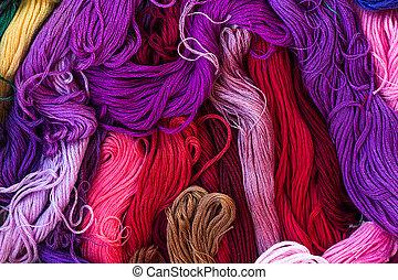 フロス, 虹色, 糸, 明るい