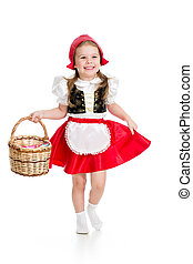 フード, カーニバル, 衣装, 子供, クリスマス, 赤