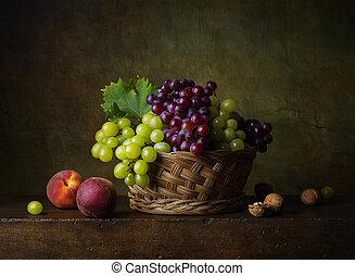 ブドウ, 静かな 生命, 桃