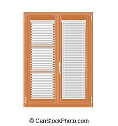 ブラインド, デザイン, 現代, 窓
