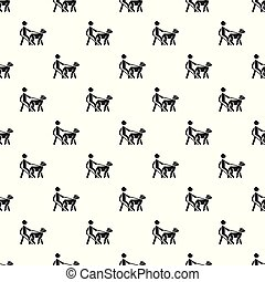 ブラインド, ペット, パターン, 犬, seamless, ベクトル, 人
