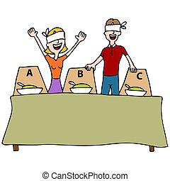 ブラインド, 味テスト, テーブル