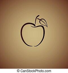 ブラウン, アップル, ロゴ